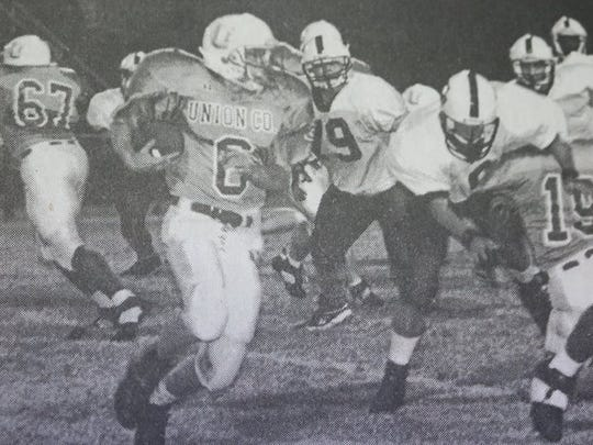 The Union County Braves played a solid first half, but fell to Paducah Tilghman 35-22 in a Friday night game in 2000.