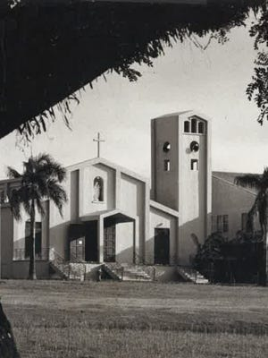 Our Lady of Mount Carmel Church, Agat, as photographed in 1975.