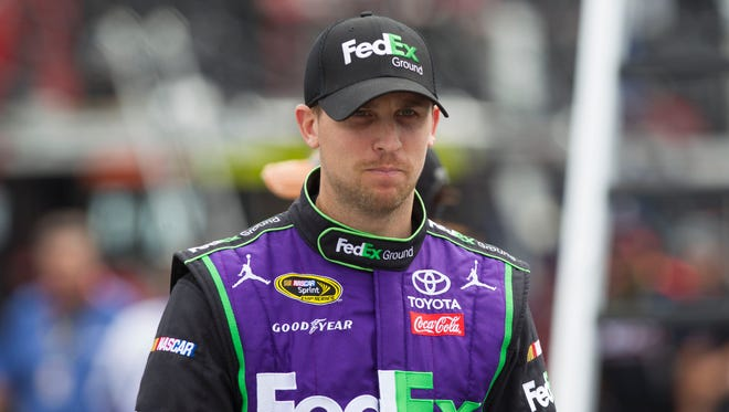 Denny Hamlin was the first driver to lock up a berth in the Chase after winning the season-opening Daytona 500.