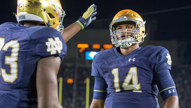 DeShone Kizer threw in front of NFL scouts and one GM at Thursday's Notre Dame pro day.