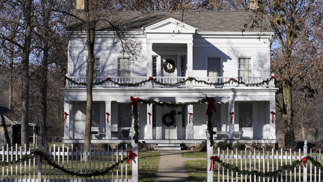 The Charles A. Grignon Mansion in Kaukauna is decorated for the holidays.