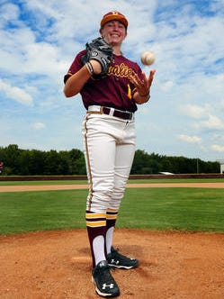 BPCC's Sarah Hudek picked up her first pitching victory on Wednesday against No. 9 Hinds Community College.