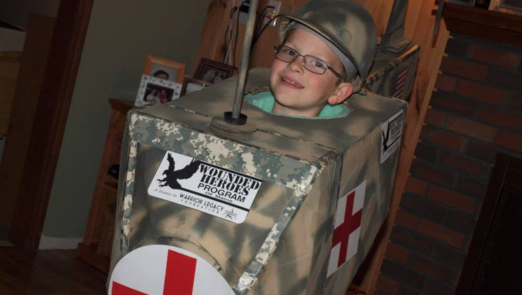 A nine-year-old boy has raised more than $1500 for