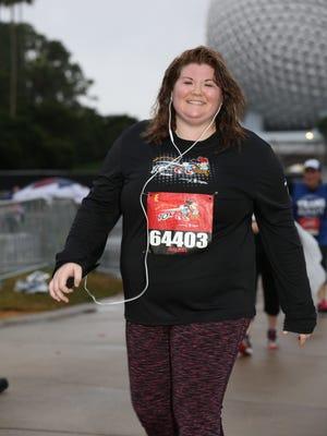 Rachel Butcher at the Walt Disney World 10k at Epcot.