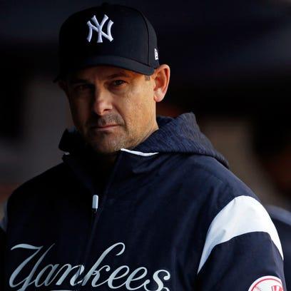 Apr 7, 2018; Bronx, NY, USA; New York Yankees manager