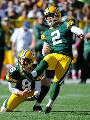 Packers kicker Mason Crosby has made 100 percent of his extra point attempts in five of his eight NFL seasons.