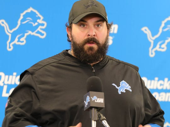 Detroit Lions head coach Matt Patricia took questions