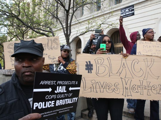 The peaceful protest was organized by a group called Black Lives Matter: Cincinnati. Organizers said they were standing in solidarity with the residents of Baltimore.