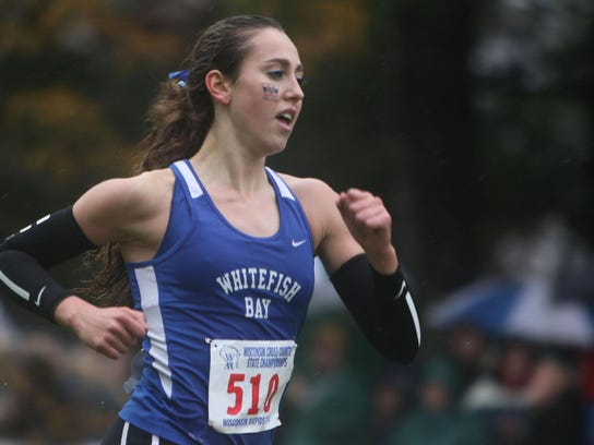 Whitefish Bay seven-time state track champion Camille