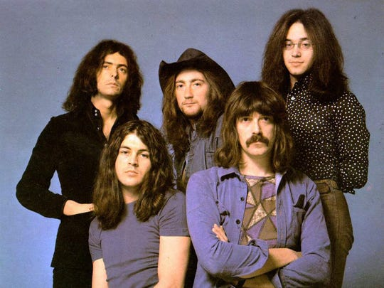 Deep Purple in the 70s. From left: Ritchie Blackmore, Ian Gillan, Roger Glover, Jon Lord and Ian Paice.
