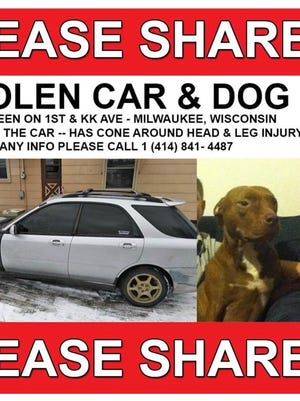 A Milwaukee family is looking for their dog who was inside a car stolen over the weekend.