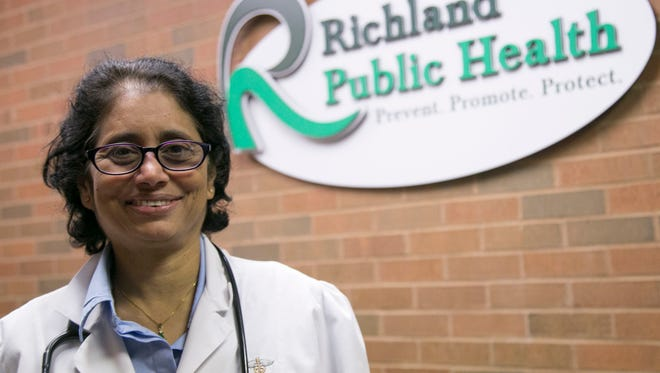 Dr. Veera Vadada retired after 16 years as the primary practice physician at Richland Public Health clinic, which was closing Friday.