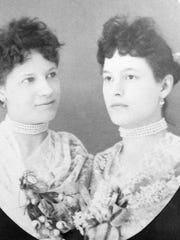 The daughters of Dorothy Laas, Olympia (left) and Florence (right), shortly before Florence died in 1894.