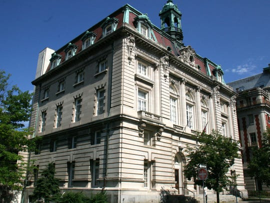 The Grande Royale Hotel, formerly Binghamton City Hall, pictured in July 2011.