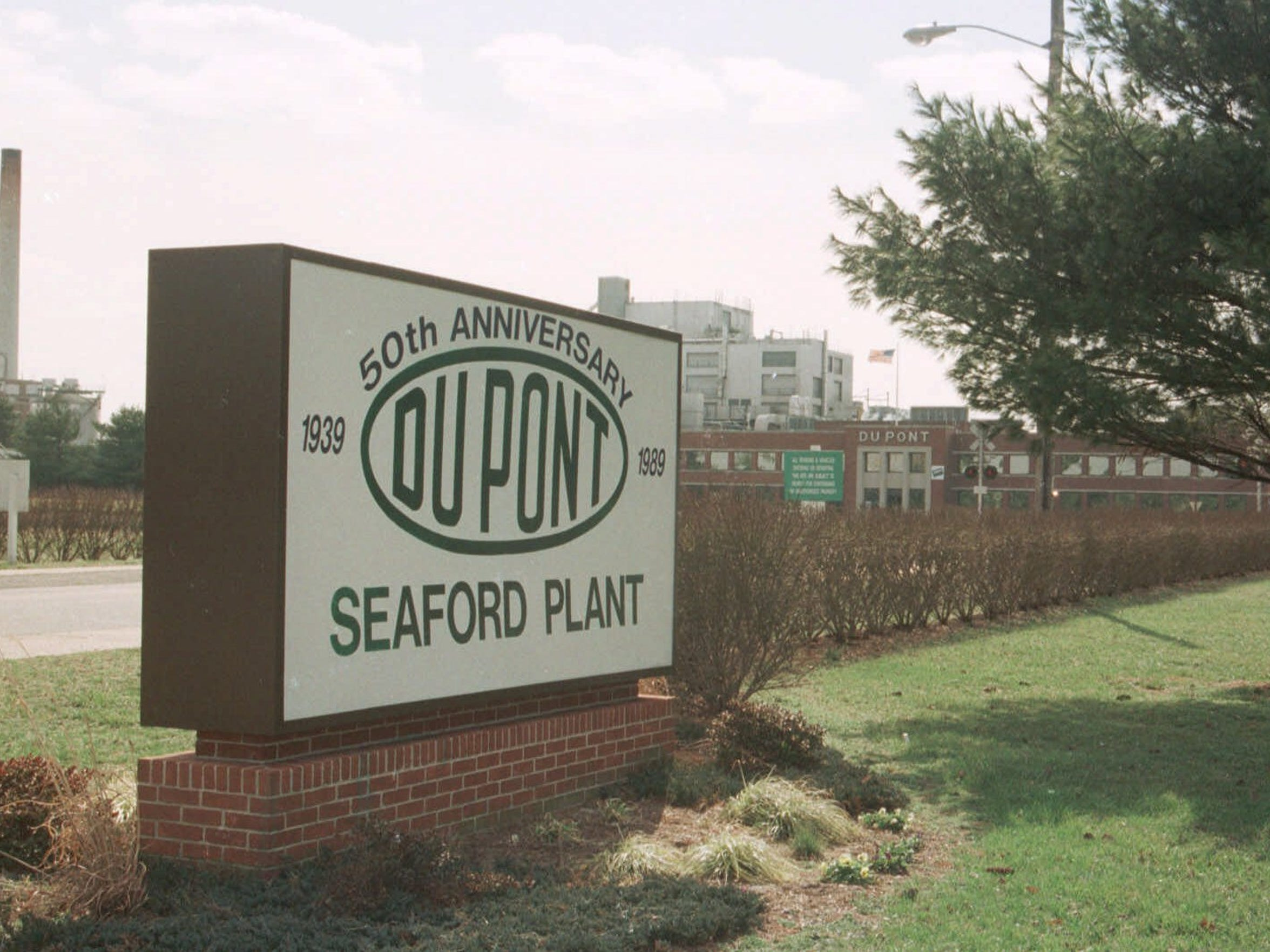 The Dupont nylon manufacturing plant in Seaford, Del.