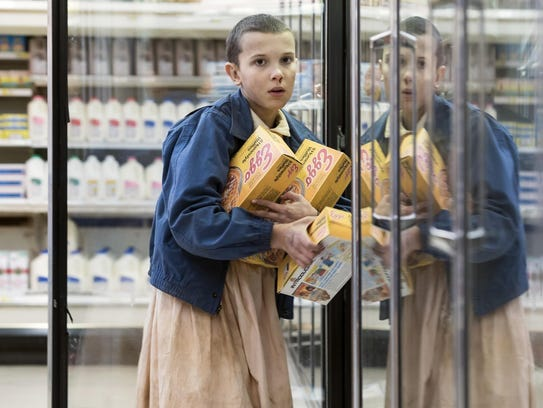"Millie Bobby Brown portrays Eleven in ""Stranger Things."""
