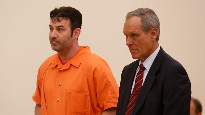 Ira Bernstein, left, with attorney Kenneth Gribetz, appears for a bail hearing with Judge David Zuckerman in Rockland County Court in New City on May 5, 2016.