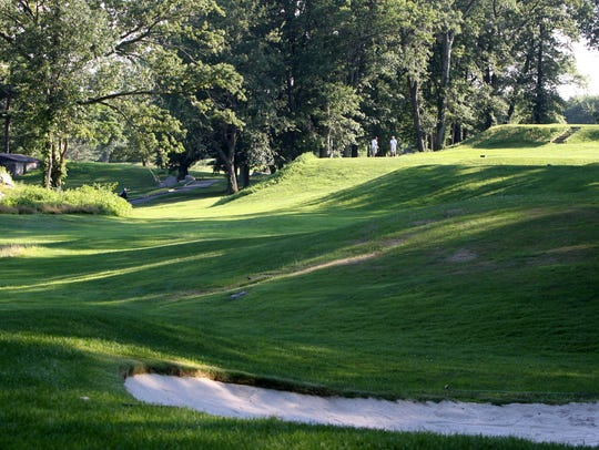 The 16th hole at Saxon Woods Golf Course in Scarsdale