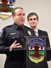 Burlington Police Chief Brandon del Pozo, left, and
