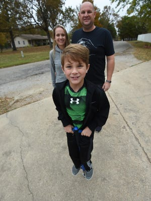 With the encouragement of his parents Lindsay and Jake Bickford, Jace Bickford is seeking to claim the world record for most consecutive pogo stick jumps by a 7-year-old. The Mountain Home boy and his family are waiting to hear from two different record keeping organizations.