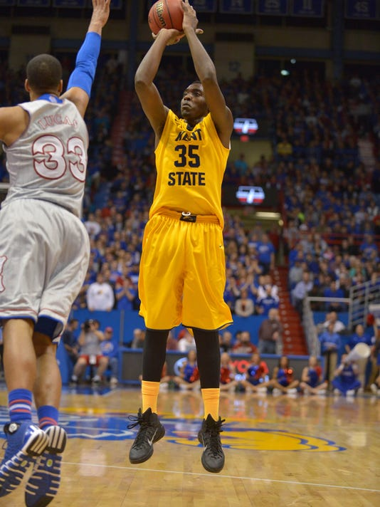 NCAA Basketball: Kent State at Kansas