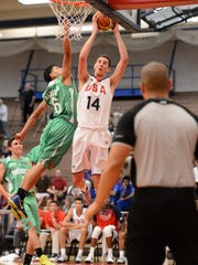Pine Plains' Tyler Lydon won a gold medal on Tuesday as part of Team USA in the FIBA Americas under-18 men's basketball tournament in Colorado Springs, Colorado.