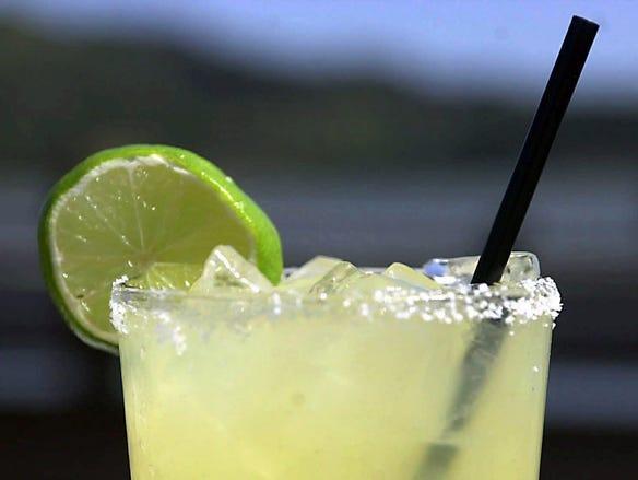 Many people drink margaritas on Cinco de Mayo.
