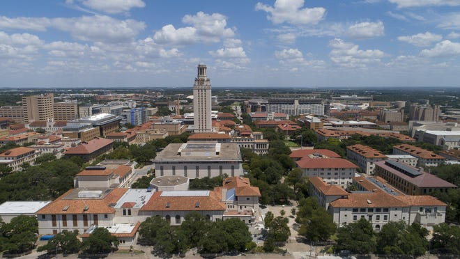 The University of Texas campus on Tuesday.