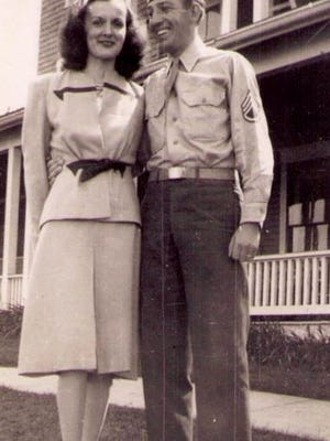 George and Mary Ryan on their honeymoon at The Wesley Hotel (now Summercamp) in Oak Bluffs on Martha's Vineyard in 1945.