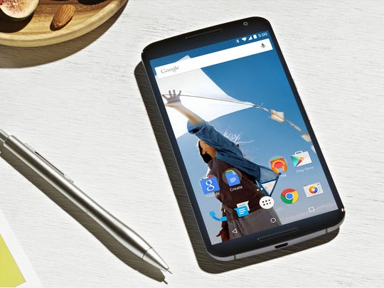 Google's Nexus 6 features Android Lollipop and a 6-inch display.