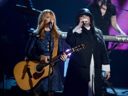 Nancy, left, and Ann Wilson of Heart will return to