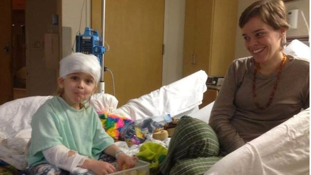 Garnett and Lacey Spears in his room at Nyack Hospital days before his death.