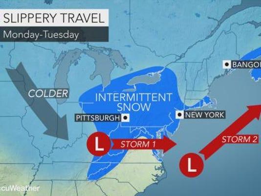 Snow forecast 1-29-18