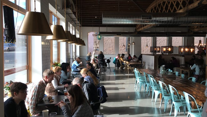 Inside Josiah's Coffeehouse, Cafe and Bakery, at 104 W. 12th St. in downtown Sioux Falls.