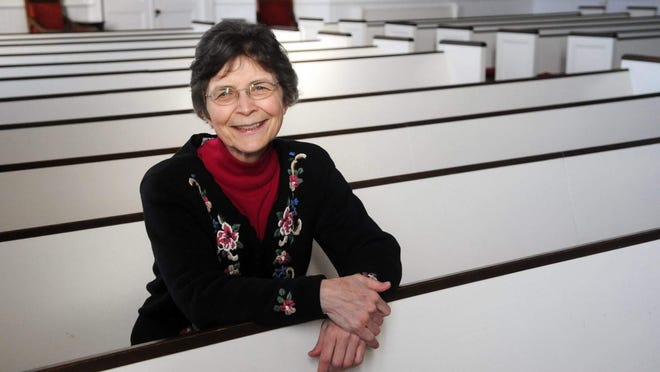 First Congregational Church of Hampton Rev. Deborah Knowlton recently retired after 21 years at the church. The 40th pastor to serve the parish that began in 1638, Knowlton is the first woman to have her name on the plaque listing all the congregation's prior pastors.
