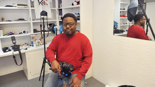 Roderick Red operates Red Squared Productions, LLC out of the Hangar business incubator in Jackson's Midtown.
