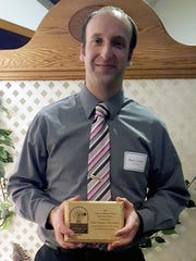 The recipient of Manitowoc County Historical Society's