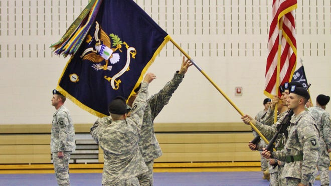 The colors of the 1st Battalion, 26th Infantry Regiment were unfurled at Freedom Fighter Gym at Fort Campbell on Tuesday morning, as the 2nd Brigade Combat Team became the last within the 101st Airborne to receive a third infantry battalion.