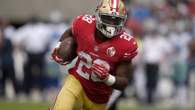 Carlos Hyde is San Francisco's top offensive threat, having scored six touchdowns.