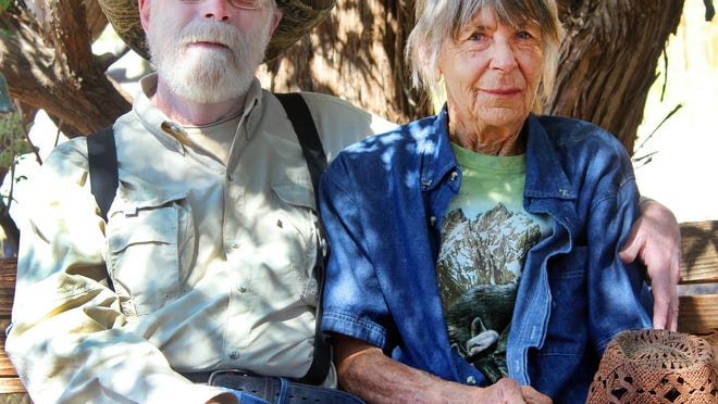 Tom and Cec Sanders spend a rare moment of quiet at their Wet Mountain Wildlife Rehab in Wetmore. The retired Pueblo teachers have been rescuing wildlife and returning the animals to nature for more than 35 years.
