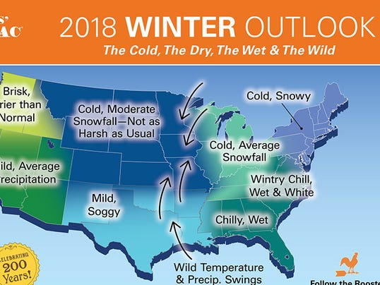 Farmers Almanac snow forecast 2017-18