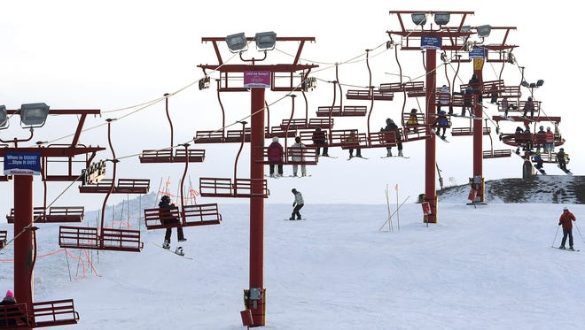 The ski lift at Great Bear in Sioux Falls.