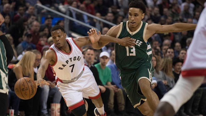 Bucks rookie guard Malcolm Brogdon will have his hands full with Raptors guard Kyle Lowry.