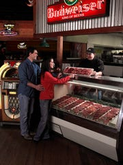 Steak selections from Texas Roadhouse, which opened Monday in Restaurant Row along Collier Boulevard at U.S. 41 East.