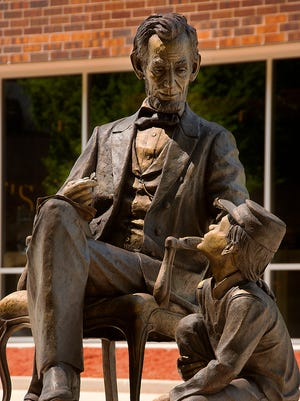 """Lincoln High School is raising money to purchase this sculpture by Spearfish artist James Maher entitled """"Abraham Lincoln."""""""