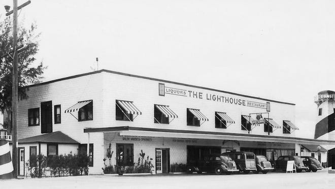 The Lighthouse Restaurant had an unusual loan arrangement with Citizens Bank. (photo of the restaurant from the 1940s to 1950s)
