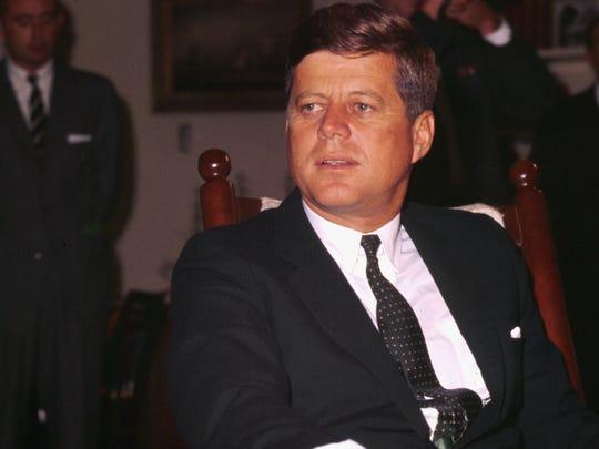 An undated photo of U.S. President John F. Kennedy in Washington D.C.