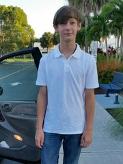 Shayden Colvin photographed on his first day of eighth grade.
