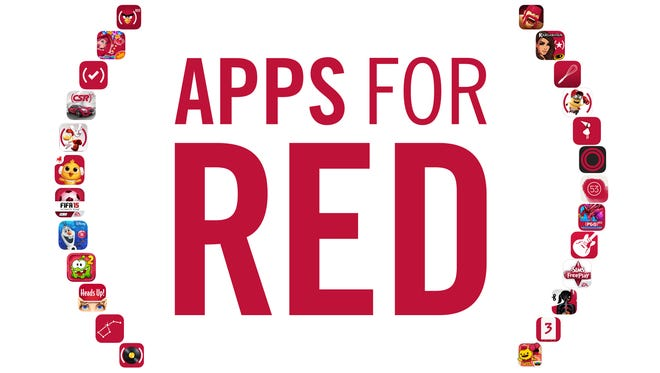 Apple's two-week Apps for (RED) initiative looks to donate all proceeds from 25 popular apps to the fight against HIV/AIDS.