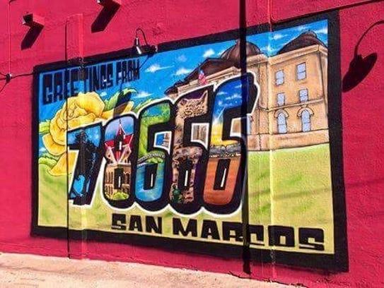 "Mural by David ""Viejo"" Perez of San Marcos."